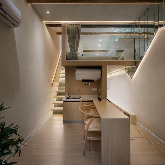 37平北京胡同老宅极限改造,无主灯+镜面墙轻盈温馨,高级空间借位2室变3室,绝了!