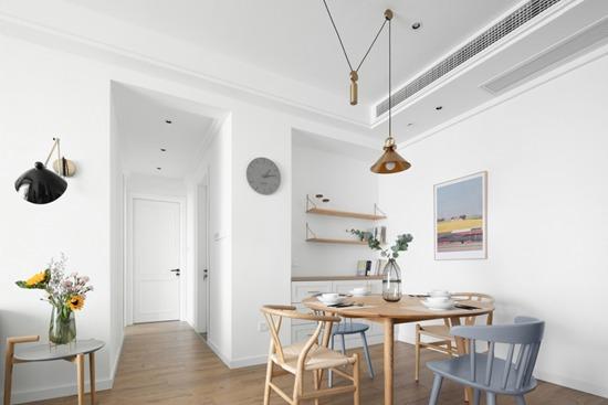 北欧风+原木色,完美打造120㎡温馨两居室,随性自然,生活就要这样美美的