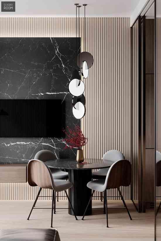 谁说只有黑白灰才经典?注入暖色魅力double!来看看这套现代简约风时尚美宅!