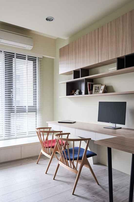 隐藏式梳妆台设计巧妙新颖,吧台隔断美观实用,这个家的极简风不一般!